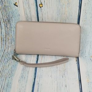 NWT FOSSIL EMMA MINERAL GRAY WALLET